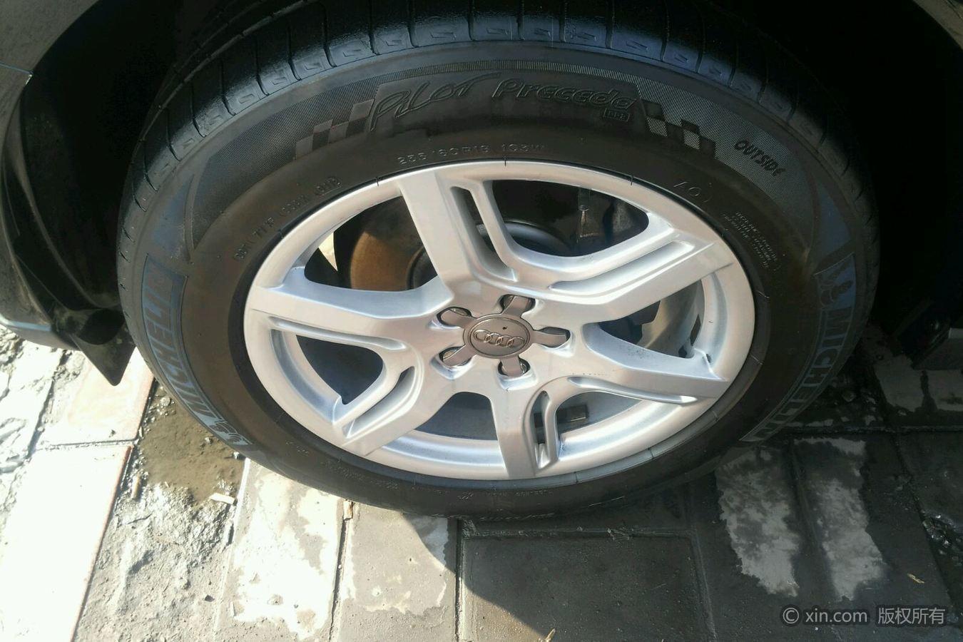 奥迪Q5左前轮胎