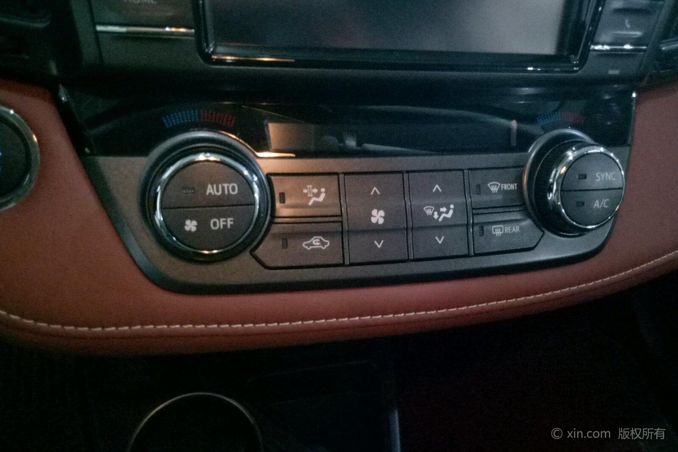 丰田rav4空调调节区